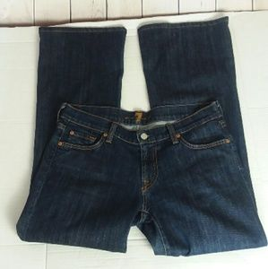 7 FOR ALL MANKIND dark wash flare jeans